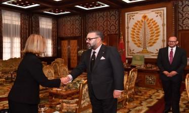 جلالة الملك يستقبل فيديريكا موغيريني الممثلة السامية للاتحاد الأوروبي