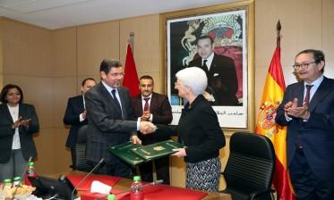 رئيس النيابة العامة يوقع مذكرة تعاون قضائي مع المدعية العامة بإسبانيا