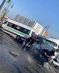 طنجة: 14 مصابا و3 وفيات في حادث اصطدام حافلتين لنقل العمال (صورة)