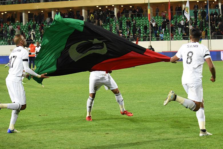 فرحة اسثتنائية للمنتخب الليبي بعد بلوغه المربع الذهبي (عيسى السوري)