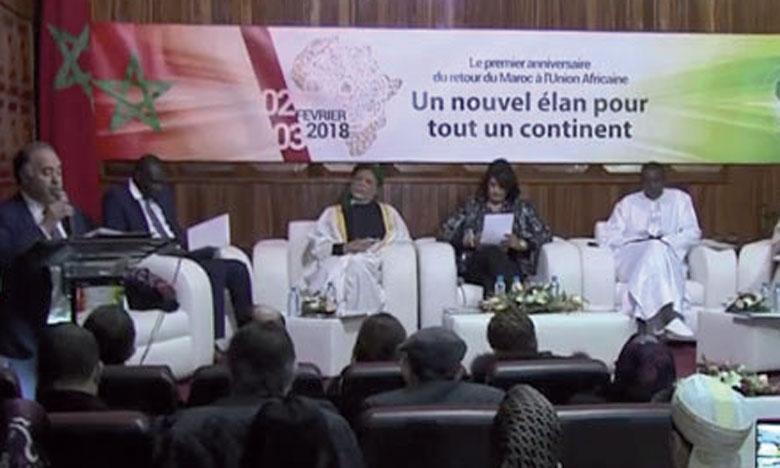 Une brochette d'universitaires, d'acteurs économiques et d'experts en affaires africaines ont pris part à l'événement.