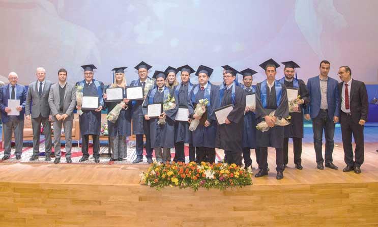 Les lauréats de la première  promotion célébrés