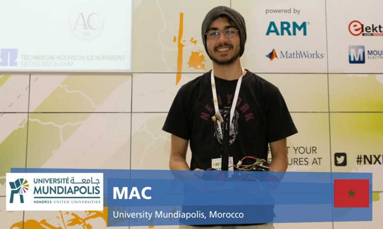 Marouane Slaitane et l'équipe MAC de l'Université Mundiapolis sont arrivés en troisième position aux côtés de deux équipes allemandes. Ph. DR