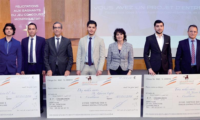 Le concours «Mon Projet BP» a récompensé trois projets: «Firnas Aerial Solutions», «Studenjoy» et «Caroose», qui ont été élus respectivement prix du jury, premier prix du public et deuxième prix du public.