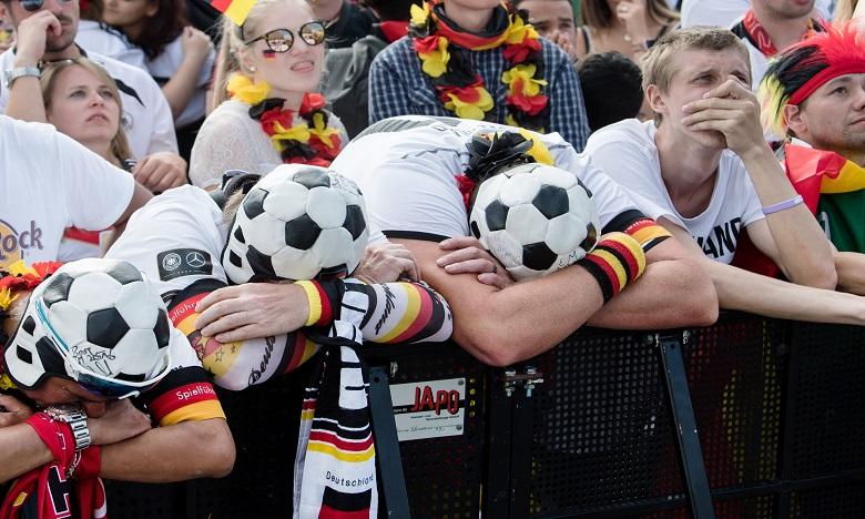 L'Allemagne, champion du monde en titre s'est incliné contre la Corée du Sud (2-0). Ph. AFP