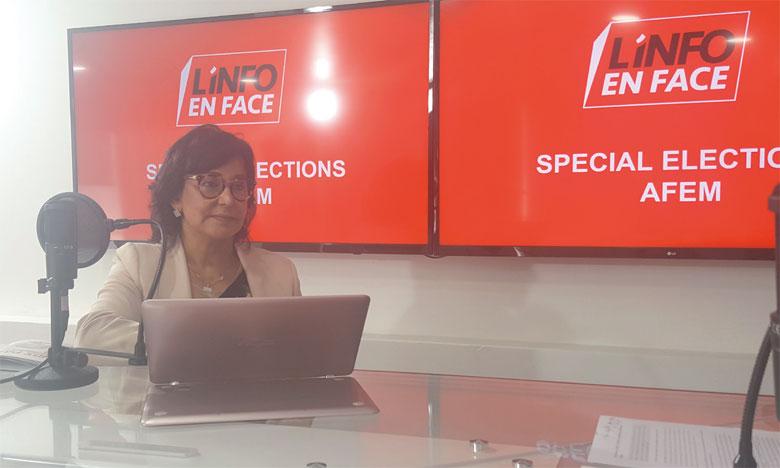 Aicha Laasri Amrani nouvelle présidente de l'AFEM