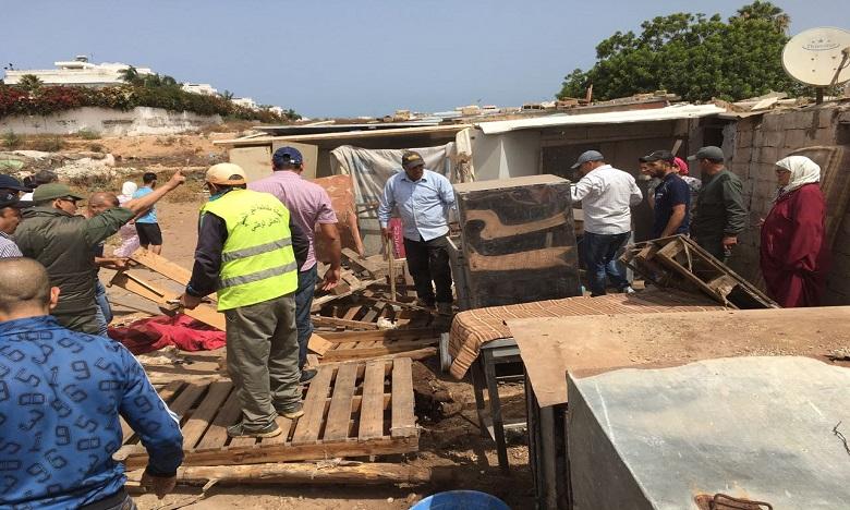 Hay Hassani : Démolition d'un bidonville « fraîchement » installé