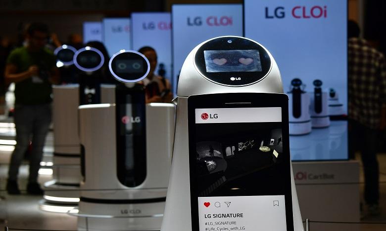 Le petit robot blanc a été mis en avant au salon international de l'électronique grand public de Berlin. Ph. AFP