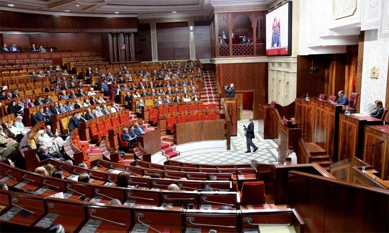 Photo du groupe de travail chargé de l'évaluation des politiques publiques à la Chambre  des représentants.                                                                                                                                                          Ph. MAP