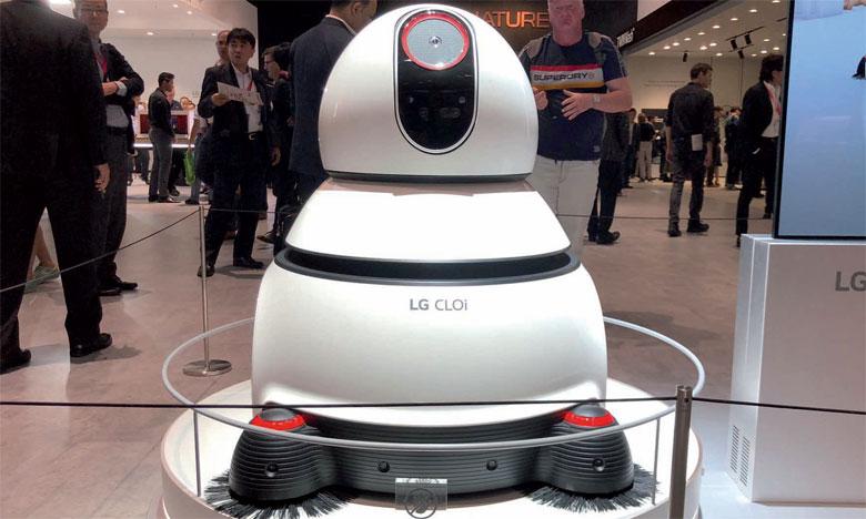 Alexa, un petit robot domestique qui permet de gérer à distance tous les objets connectés du foyer.                                                        Ph. M.T.