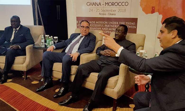 Près de vingt-cinq professionnels marocains ont réalisé quelque  140 rencontres BtoB avec une cinquantaine d'entreprises ghanéennes.