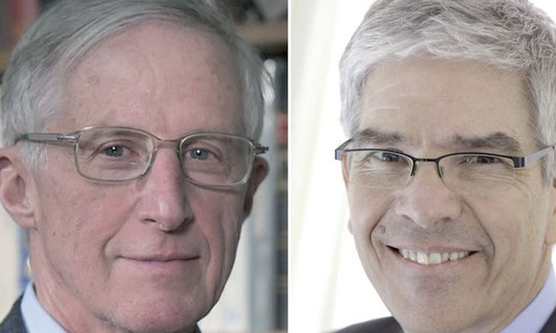 William Nordhaus (à gauche) et Paul Romer.