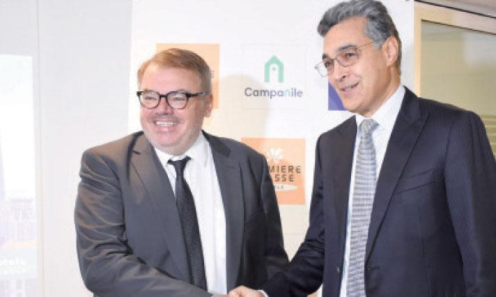 Les deux partenaires lors de l'inauguration officielle du complexe. Ph. Saouri