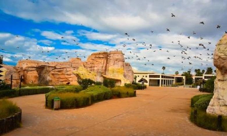 Le Jardin Zoologique de Rabat est construit sur la base de séquence d'observation et de vues séquentielles similaires à l'habitat naturel des animaux.