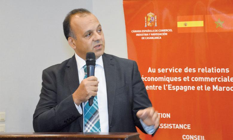 Nabyl Lakhdar, DG de l'ADII, était l'invité jeudi dernier de la Chambre de commerce espagnole. Ph. Saouri