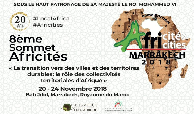 Le 8e Sommet Africités du 20 au 24 novembre à Marrakech