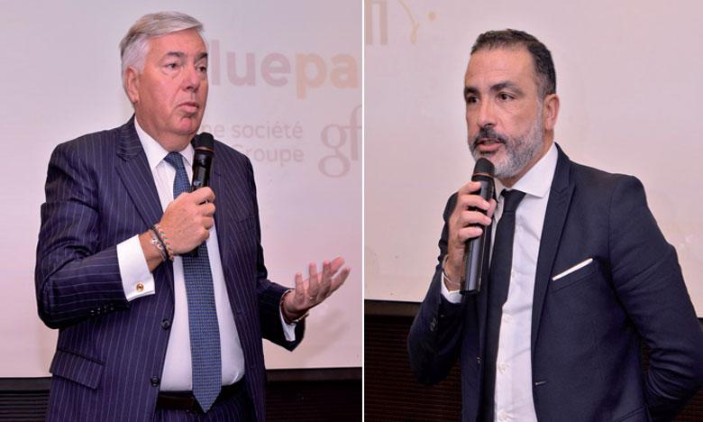 Le PDG de Gfi, Vincent Rouaix, et le DG de Value Pass, Imad Haddour.