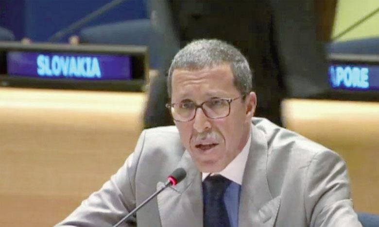 Omar Hilale, Représentant permanent du Maroc auprès de l'ONU, a précisé que cette résolution met la lumière sur la première Charte africaine pour un tourisme responsable, adoptée lors de la COP 22 en novembre 2016 à Marrakech. Ph. DR