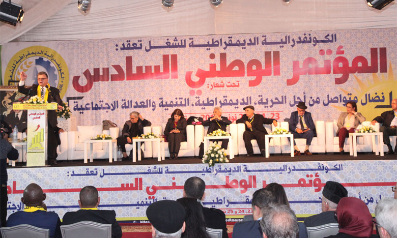 Les travaux du sixième congrès ont permis l'adoption du rapport moral.