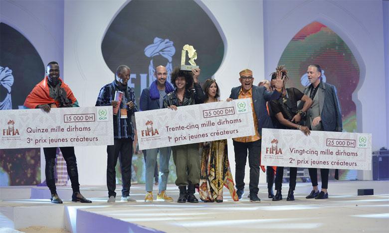 Les gagnants des concours «Jeunes Créateurs» et «Top Model».                          Ph Saouri