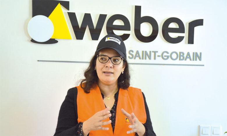 Maha Hmeid, General Manager de Saint-Gobain Weber au Maroc. Ph. Seddik