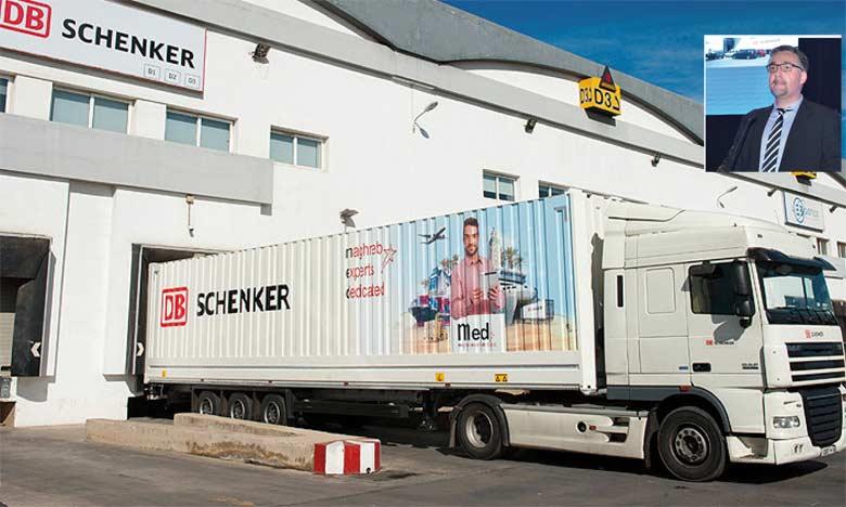 Schenker Maroc a axé son développement sur la différenciation, note son directeur général Éric Thizy. (en médaillon)