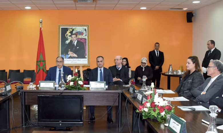 Driss Guerraoui et Mohamed Abouelaziz, respectivement président et SG du Conseil de la concurrence.