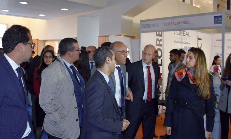 Le Carrefour du Manager a pu mobiliser, cette année, 47 entreprises participantes et près de 2.000 étudiants.                                                 Ph. Sradni