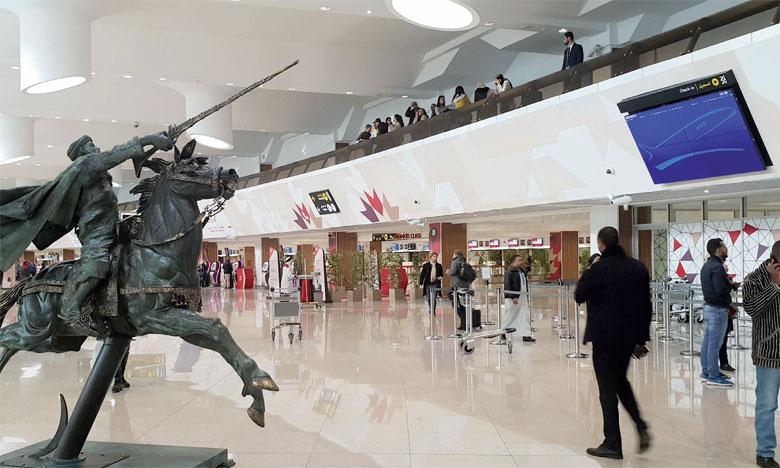 Le nouveau terminal1 doublera la capacité de l'aéroport Mohammed V à 14 millions de passagers par an. Ph A. Hafidi