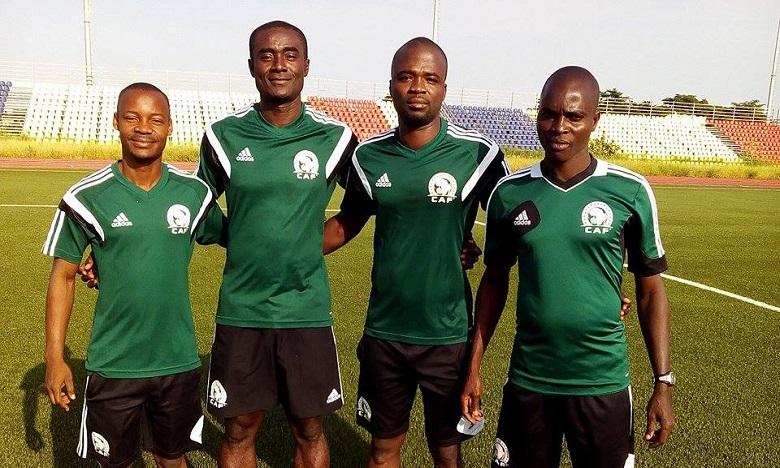 L'Ivoirien Bienvenu Sinko pour le match HUSA-Raja