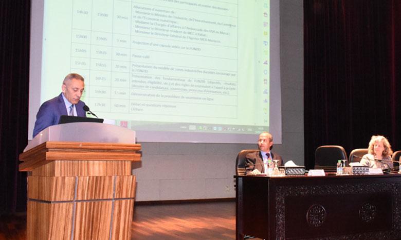 L'appel à projets du Fonzid a été lancé vendredi à Rabat par l'agence Millennium Challenge Account-Morocco et le ministère de l'Industrie. Ph. Kartouch
