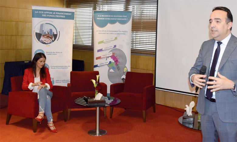 Hicham Zanati Serghini, DG de la CCG : « A travers ses différents partenaires, la Caisse affiche l'ambition de jouer un rôle déterminant dans les années à venir pour la croissance des jeunes pousses à fort potentiel». Ph. Seddik