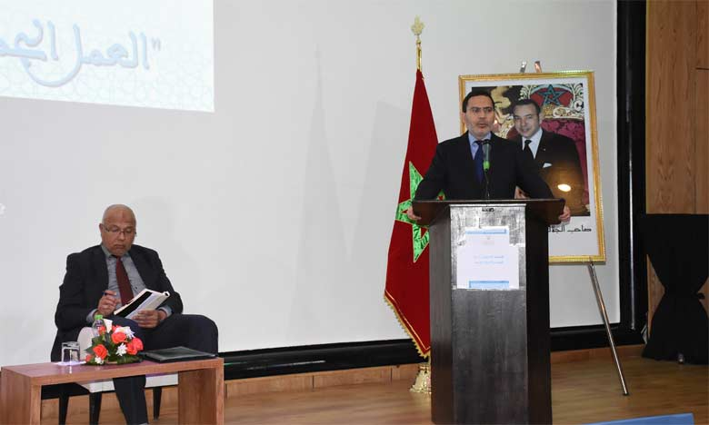 Mustapha El Khalfi présentant les grandes lignes de la stratégie du ministère.  Ph. Kartouch