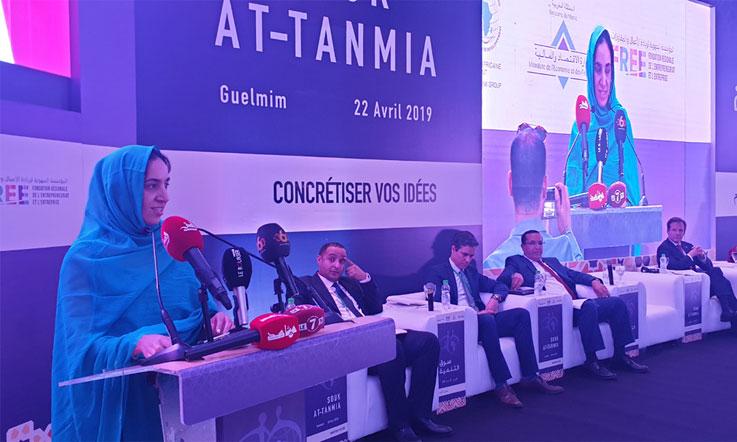 Des projets innovants, de l'émotion et de la fougue. Ce lundi, 22 avril à Guelmim, des centaines de jeunes sont venues célébrer, aux côtés de la BAD, le lancement, pour la première fois au Maroc, du programme «Souk At-tanmia». Ph. M. Hafidi