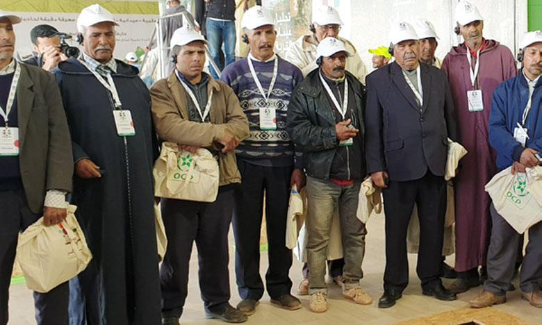 Pour la 5e et dernière étape de la phase dédiée à la culture de l'olivier, le groupe OCP a installé son dispositif itinérant, à partir de jeudi 11 avril, à Laattaouia, dans la région de Marrakech. Ph. M. Hafidi