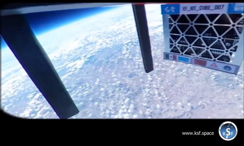 Le Maroc avait lancé, en décembre dernier, son premier microsatellite destiné à l'étude de la couche d'ozone, depuis le Mexique. Ph : Archives