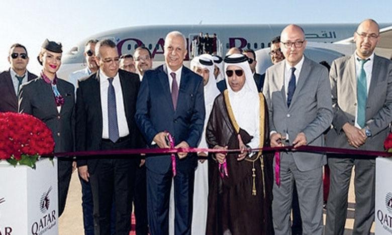 Le premier vol a atterri mercredi à l'Aéroport international Rabat-Salé.