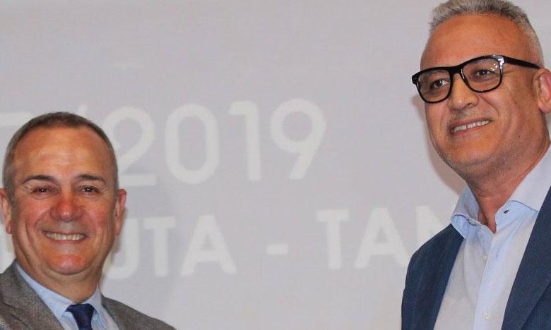 Abdelhamid Aberchan, président de l'Ittihad de Tanger, et Felipe Moreno, vice-président et propriétaire du CD Leganés