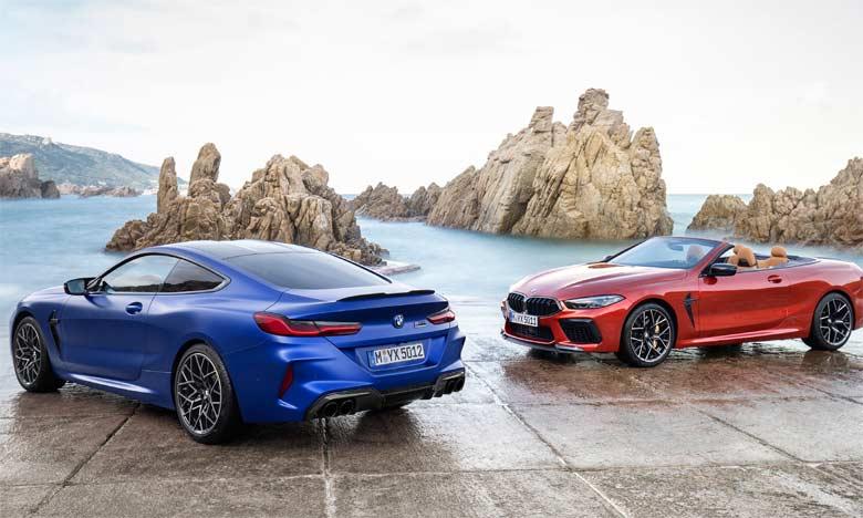 Les nouveaux modèles BMW M8 se démarquent par des éléments de design spécialement adaptés aux spécificités des sportives hautes performances.