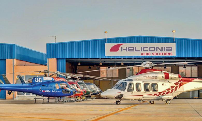 Heliconia Aero Solutions utilise sa flotte d'hélicoptères Eurocopter et Agusta pour fournir des services, y compris le transport offshore, les levés aériens et le transport VIP.
