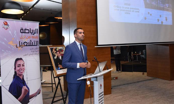Mohamed Amine Zariat, président et fondateur de l'organisation Tibu Maroc, au lancement du programme «Initiative Intilaqa». Ph. Saouri