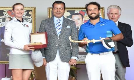 S.A.R. le Prince Moulay Rachid préside la cérémonie de remise des prix du Trophée Hassan II de golf