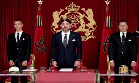 S.M. le Roi adresse un Discours à la Nation à l'occasion de la fête du Trône