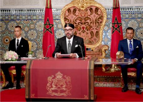 S.M. le Roi adresse un discours à la Nation à l'occasion du 65e anniversaire de la Révolution du Roi et du Peuple