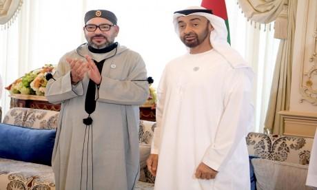 S.M. le Roi assiste au Conseil de S.A. Cheikh Mohamed Ben Zayed Al Nahyane