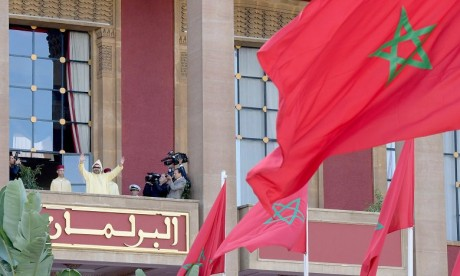 S.M. le Roi préside l'ouverture de la première session de la 3ème année législative de la 10-ème législature