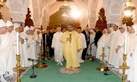 S.M. le Roi, Amir Al-Mouminine, préside à Rabat une veillée religieuse en commémoration de l'Aïd Al-Mawlid Annabaoui Acharif