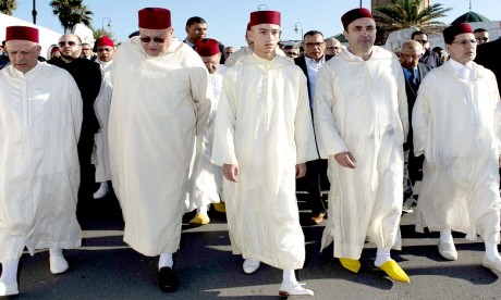 Obsèques à Rabat du poète Ali Skalli Hussaini en présence de S.A.R. le Prince héritier Moulay El Hassan