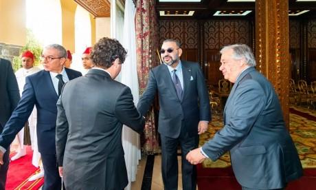S.M. le Roi Mohammed VI reçoit en Audience au Palais Royal de Rabat le Secrétaire général des Nations unies, M. Antonio Guterres