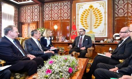 S.M. le Roi reçoit en audience M. Serguei Lavrov, ministre des Affaires étrangères de la Fédération de Russie